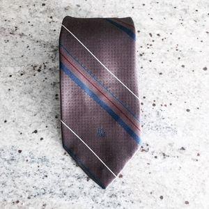 CHRISTIAN DIOR monsieur vintage striped necktie